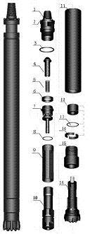 DHD340冲击器钎头,宣化340冲击器115钎头