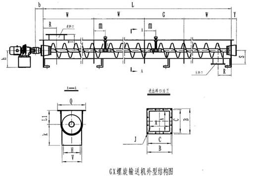 管式螺旋输送机结构图